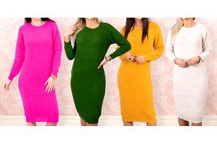 Svetrové šaty se 70% podílem vlny ve 12 barvách