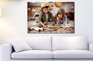 Fotoobraz na plátně napnutém na dřevěném rámu