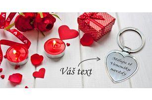 Srdíčkový přívěsek s gravírováním vašeho textu