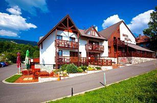 Horský odpočinek v hotelu Helena s plnou penzí, saunou a zapůjčením kol