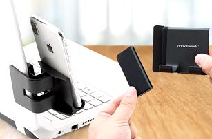 Vícepolohový klip se svorkou na mobil či tablet