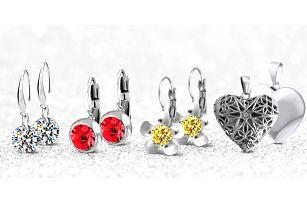 Náušnice, přívěsky a set s krystalky Swarovski Elements