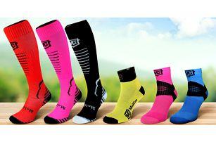 Sportovní ponožky a kompresní podkolenky s merinem
