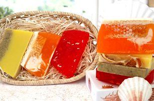 Ručně vyráběná krájená mýdla v sadě po třech