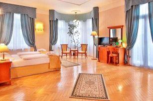 Mariánské Lázně u Hlavní kolonády v Hotelu Belvedere Spa & Wellness **** s bazénem, procedurami a polopenzí