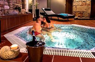 Relax pro pár i rodinu: sauna, vířivka, 4chodové menu