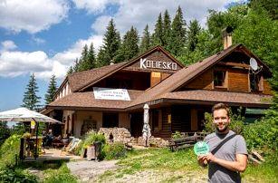 Nízké Tatry: Září pod Chopkem v nejvýše položené horské Chatě Koliesko s polopenzí a zapůjčením elektrokol