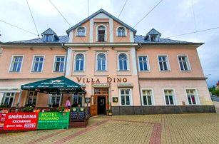 Mariánské Lázně: Hotel Villa Dino *** u kolonády s koupelemi, masáží i zábaly, welcome drinkem a polopenzí