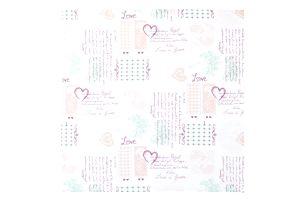 Ubrus Romance, 85/85cm, Vícebarevné