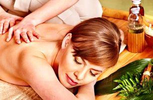 60 min. masáže zad, šíje a ramen přírodními oleji
