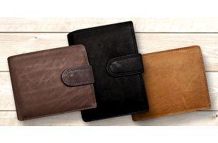Kožené pánské peněženky s ochranou karet