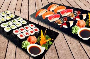 Sushi sety s 10–100 ks nigiri a maki rolek