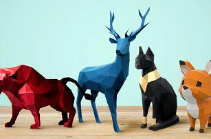 3D modely zvířat z papíru k vystřihnutí a složení