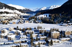Davos: 3* Solaria Apartments, 6 min. od vleku, až pro 4 os.
